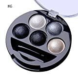 mineral fusion eye makeup remover - 5 Colors Pigment Eyeshadow Palette Eye Shadow Powder Metallic Shimmer Makeup Beauty Professional Make Up Warm Color Waterproof #6