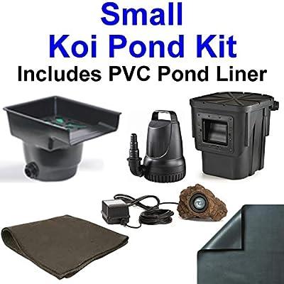 10' x 10' Compact PVC Pond Kit, Anjon ANJ16 Filtering Biological Waterfall & PB1304 Skimmer, 1,200 GPH Pump - PVC1010