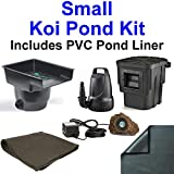 10' x 10' Compact PVC Pond Kit, Anjon ANJ16 Filtering Biological Waterfall & PB1304 Skimmer, 1,200 GPH Pump - PVC1010