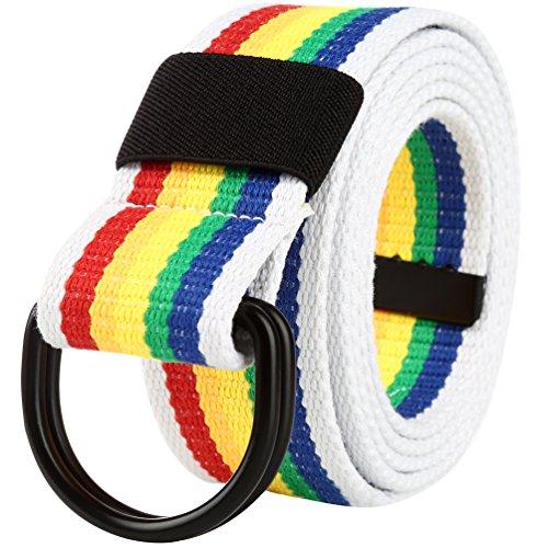 Vbiger Casual Cinturón de Lona para Hombre Mujer P0f5SZ