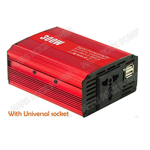 MarsRock 300W Off Grid Inverter, 12V DC to AC 110V or 220V Automobile Power Converter Modified Sine Wave Car Inverter (Red AC110Volt 50Hz) by MarsRock