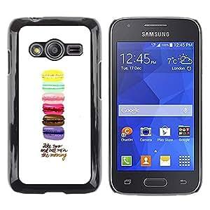 TopCaseStore / la caja del caucho duro de la cubierta de protección de la piel - Macaroons Yellow Blue Pink Brown Purple - Samsung Galaxy Ace 4 G313 SM-G313F