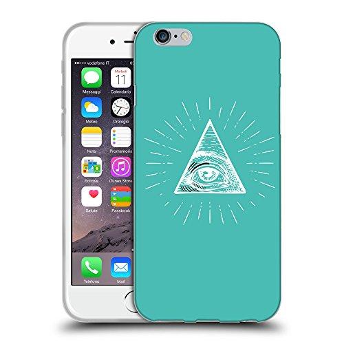 GoGoMobile Coque de Protection TPU Silicone Case pour // Q09040634 Œil Providence 14 Turquoise // Apple iPhone 7