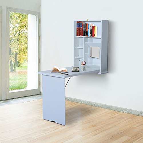 Mt Lebanon Office Furniture: HomCom Compact Fold Out Wall Mounted Convertible