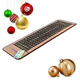 HealthyLine Far Infrared Heating Mat 72''X24'' | Natural Jade & Tourmaline | Heated Negative Ions (Large & Firm) | Relieve Pain, Stress & Insomnia |Free Foil Blanket| FDA Registered