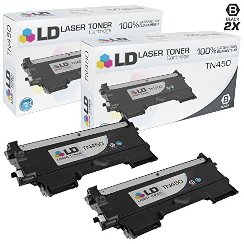 Compatible Brother TN450 Set of 2 High Yield Toner Cartridges by LD Products
