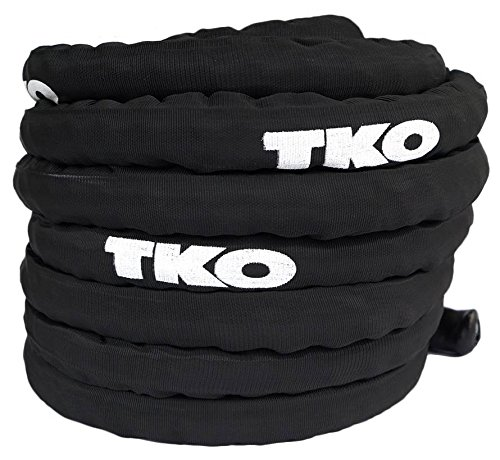 50 ft. Battle Rope in Black by TKO