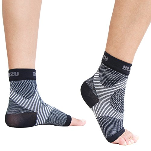 Ankle Brace Support Foot Sleeves Plantar Fasciitis Medical Compression Socks for Men Women Arch, Heel, Achilles, Fast Relief Recovery from Swelling & Foot Pain, Best for Running & all Sports S/M Black