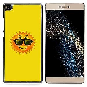 For HUAWEI P8 - happy summer sun cartoon sunglasses /Modelo de la piel protectora de la cubierta del caso/ - Super Marley Shop -