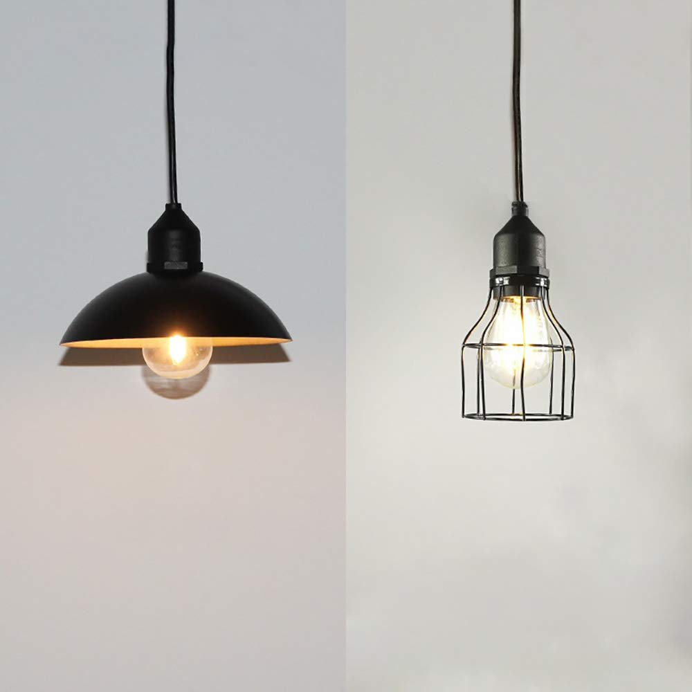 ALLOMN Solar Powered Pendant Lamp Classic Industrial and Modern Style Hanging Edison Bulb Barn Light for Outdoor Cafe Garden Porch Umbrella Outdoor Solar Shed Light