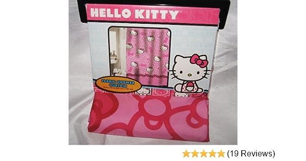 1c9c7947b Amazon.com: Hello Kitty Fabric Shower Curtain: Home & Kitchen
