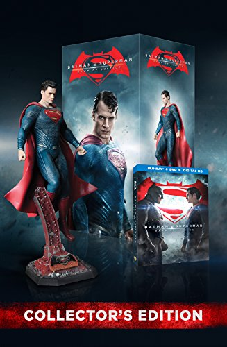 Batman v Superman: DOJ (Amazon-Exclusive) (Superman Figurine) (Ultimate Edition Blu-ray + Theatrical Blu-ray + DVD + UltraViolet Combo Pack) at Gotham City Store