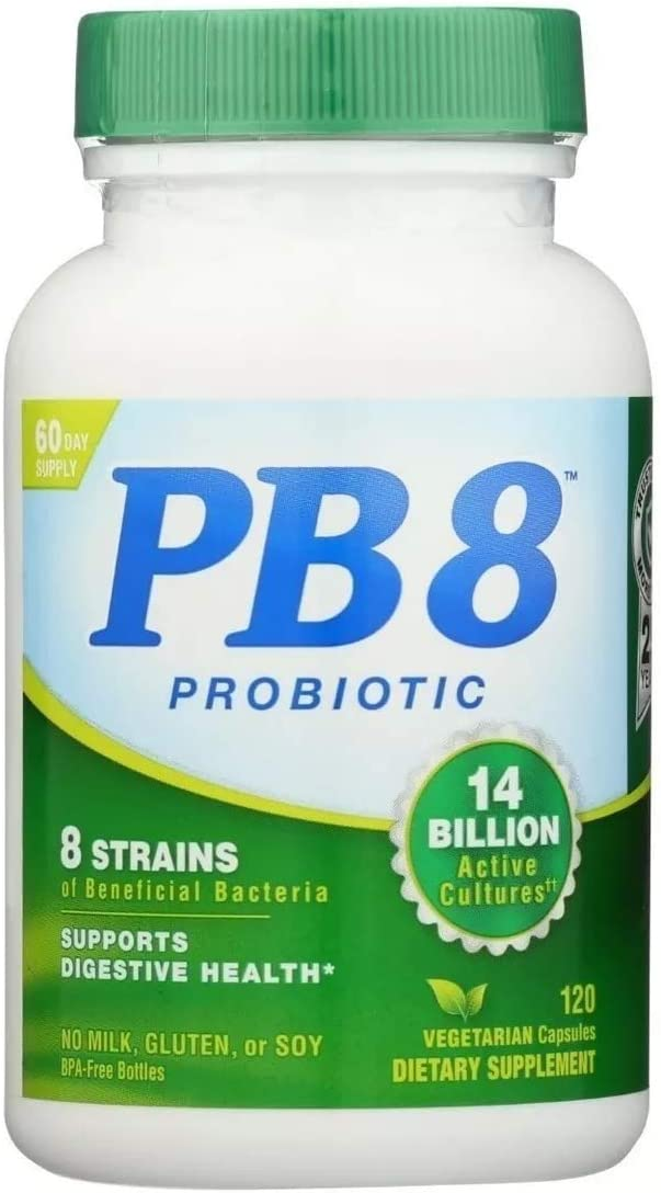 Probiótico Vegetariano Pb8 14 Bilhões Nutrition Now 120 Cap
