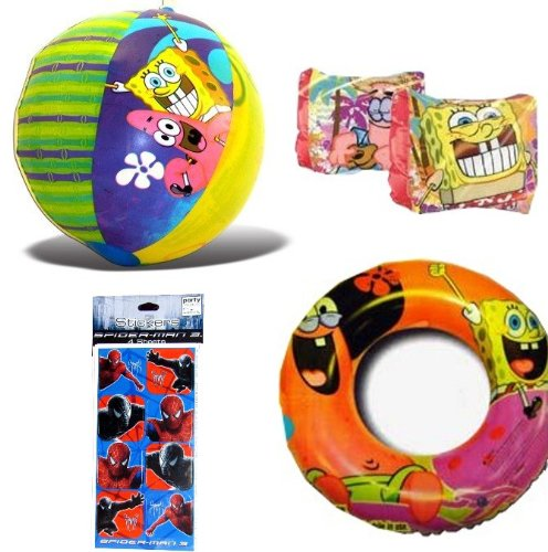 4-piece Spongebob Pool Toys and Spongebob Swimwear: Beach Ball (16