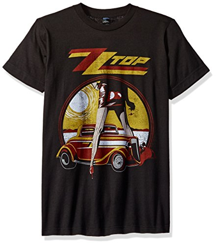 Impact Men's Zz Top Vintaged Legs Rock T-Shirt, Coal, Small -
