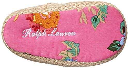 POLO RALPH LAUREN - Fuchsia Baby-Schühchen für die Wiege, aus Stoff, Blumen Druck, Mädchen
