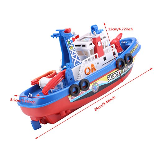 Fire Boat Toy Water Spraying Ship Model with Sound & Flash Light for Children Kids - http://coolthings.us