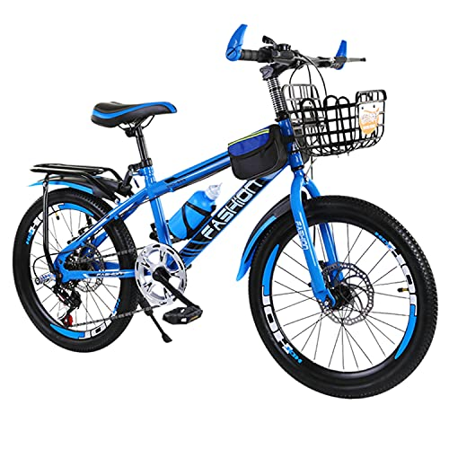 22 inch kinderfiets, kindermountainbike met dubbele schijfrem, frame van koolstofhoudend staal, antislip en slijtvaste…