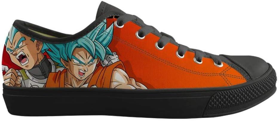 Csqw Anime Cosplay Scarpe di Tela Canvas Shoes Scarpe Uomo Donna Casual Stampate Scarpe Uomo Donna Coppia Dragon Ball, f-38 As Shown