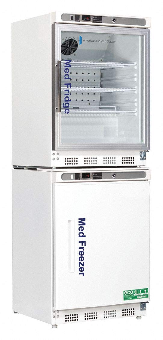 Upright Refrigerator with Freezer Pharmacy Cycle/Manual Defrost