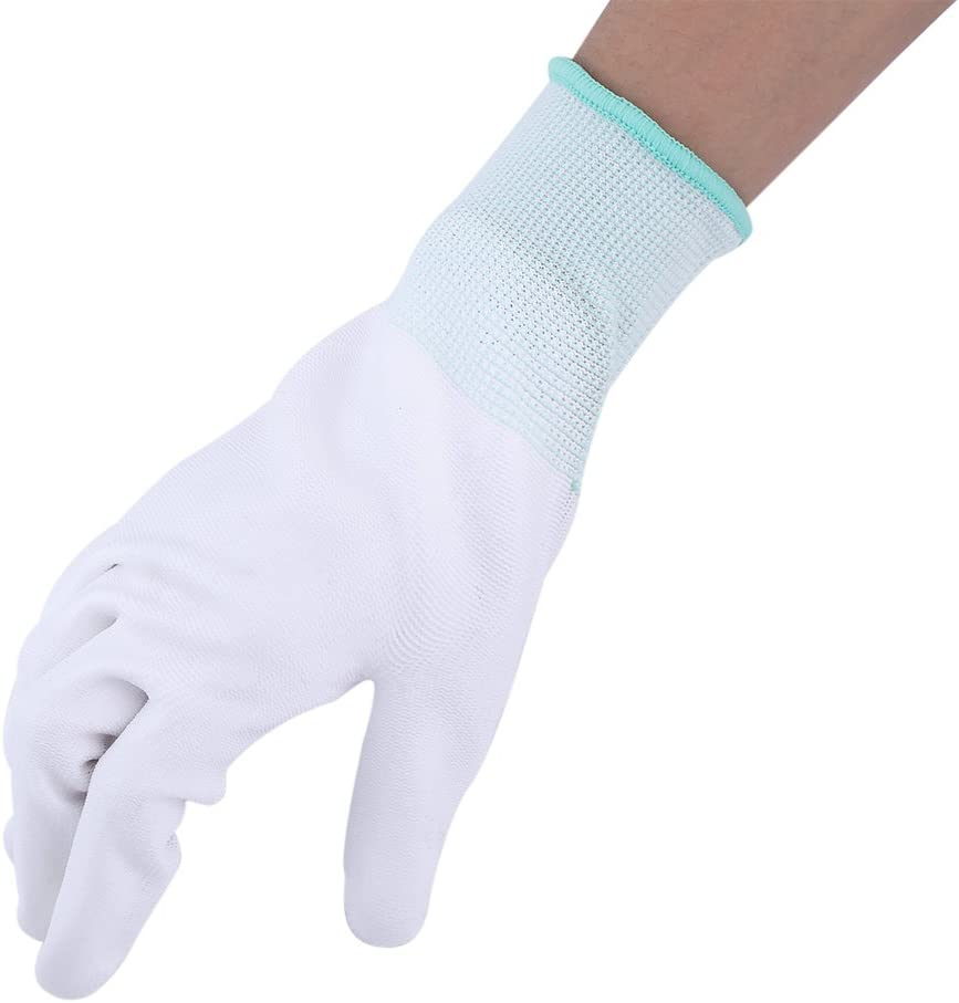 S(Rosa) 1 Paar Anti-Statik Gleitschutz Handschuh PU Beschichtet Palm Anti-Rutsch Wearable Handschuhe f/ür PC Computer Telefon Reparatur Sicherheit Arbeiten