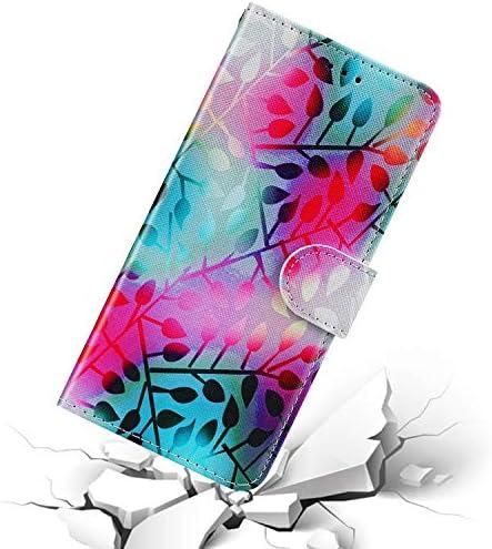 Urhause Kompatibel mit Huawei Honor 8X Hülle Karikatur Gedruckt Leder PU Handyhülle Magnetverschluss Standfunktion Handytasche Brieftasche Tasche Cover Kartenfach Etui Wallet Lederhülle Case, Rose#2