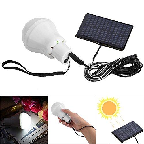 1w solar led flashlights solar tent light white light - 5