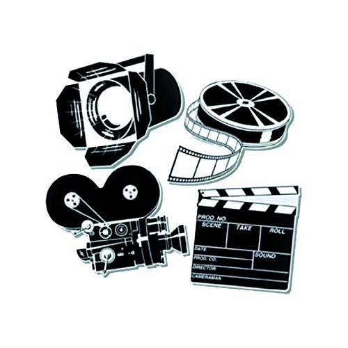 Hollywood Usa Costumes (Pkgd Movie Set Cutouts Party Accessory (1 count) (4/Pkg))
