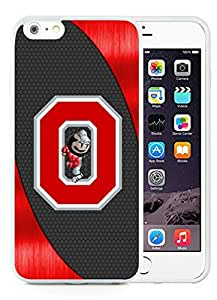 iPhone 6 Plus Case,Ncaa Big Ten Conference Football Ohio State Buckeyes 14 White For iPhone 6 Plus 5.5 Case WANGJING JINDA
