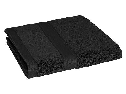 REVITEX - Toalla Rizo Estela Negro - Baño 70x140 cm - 100% Algodón - Gramaje