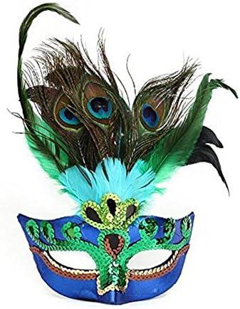 EXOH Mascarilla de Plumas de Pavo Real para Disfraz de máscara ...