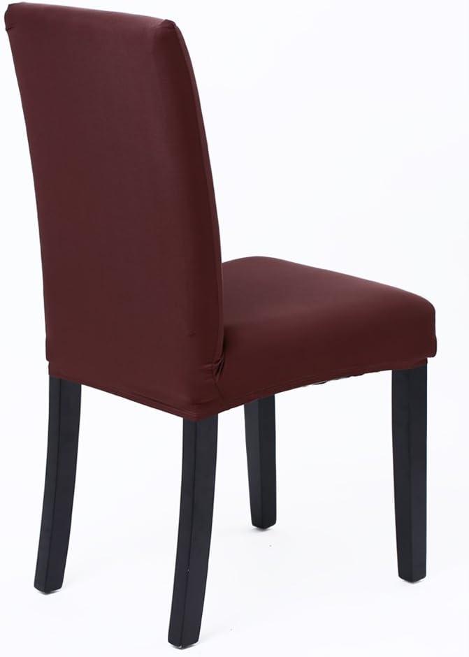 Hotel Duradera Modern Bouquet de la Boda Gris, Pack de 4 Decor Restaurante SaintderG/® Fundas para sillas Pack de 4 Fundas sillas Comedor