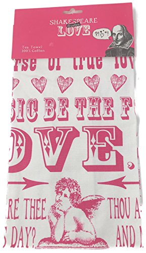Temple Island Collection Shakespeare Quotes on LOVE Tea Towel | 100% Cotton | 47 X 77cm by Temple island collection (Image #1)