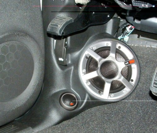 Custom Kicks - Q-Logic Custom Kick Panel Component Speaker Mount Pod for Cadillac ESCALADE & ESCALADE EXT, Chevy AVALANCHE SILVERADO & SUBURBAN, GMC DENALI SIERRA YUKON & YUKON XL 2007-2009 (Black 01)