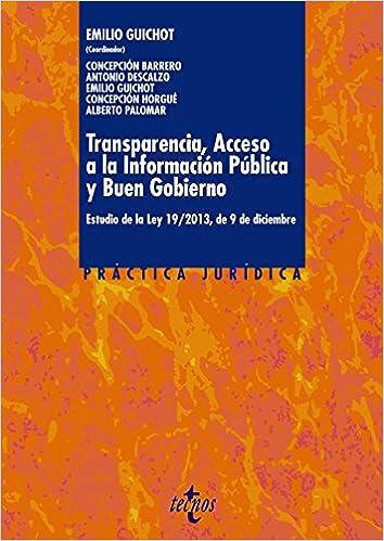 ... de 9 de diciembre Derecho - Práctica Jurídica: Amazon.es: Emilio Guichot Reina, Concepción Barrero Rodríguez, Antonio Descalzo González, ...