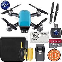 DJI Spark Portable Mini Drone Quadcopter+ 32GB Micro SD Card + Starter Bundle (Sky Blue)