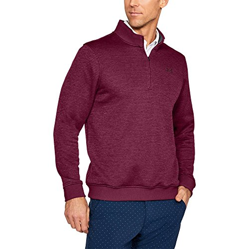 Under Armour Men's Storm SweaterFleece Patterned ¼ Zip,Black Currant /Overcast Gray, X-Large