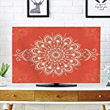 iPrint LCD TV dust Cover Strong Durability,Henna,Ancient Kaleidoscopic Round Mandala Arabic Design Yoga