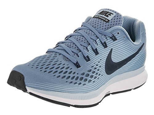 Nike Women's Air Zoom Pegasus 34 Work Blue/Black/Ice Blue/White Running Shoe 9 Women US (Nike Women Shox Shoes)