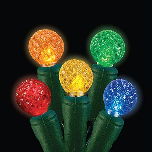G12 Multi Leds - Christmas Holiday Lighting G12 Premium Grade LED String Lights, 70 lights, UL588 Approved … (Multi)