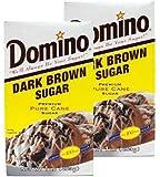 Domino Dark Brown Sugar 16 oz (Pack of 2)