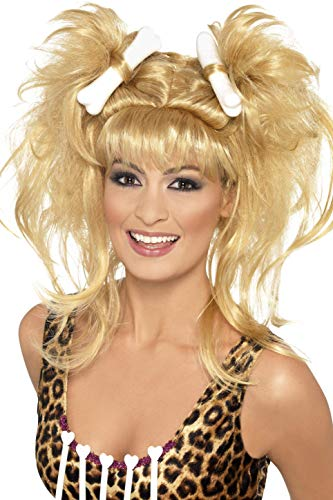 Smiffy's Crazy Cavegirl Wig, Blonde, One Size
