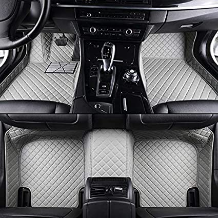 Beige Unicozy Custom Car Floor Mat Front and Rear Liners All Weather for VW Beetle 2012-2018