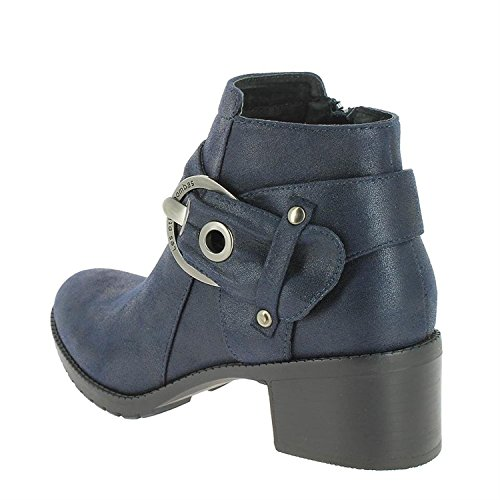 Les Petites Bombes Bottines Diane bleues Dunkelblau
