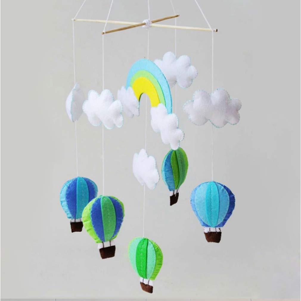 Kingus Schick DIY Stoff Hei/ßluftballon Windspiel vlies Material Paket Mobile Filz Decke Cots Krippen H/ängen