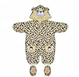 Baby Snowsuit with Navy Leopard Prints 3-6 Months