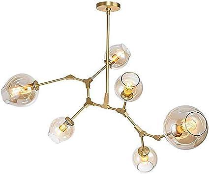 Handschlag Glas Kronleuchter-bernstein 3-lichter CUICAN Nordische Sputnik Kronleuchter, E27 Industrielle Molekular Einstellbar Filiale Pendelleuchte Mit Runde