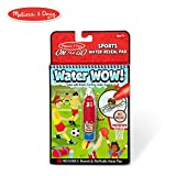 Melissa & Doug On The Go Water Wow! Sports Activity Pad (Reusable Water-Reveal Coloring Book, Refillable Water Pen)