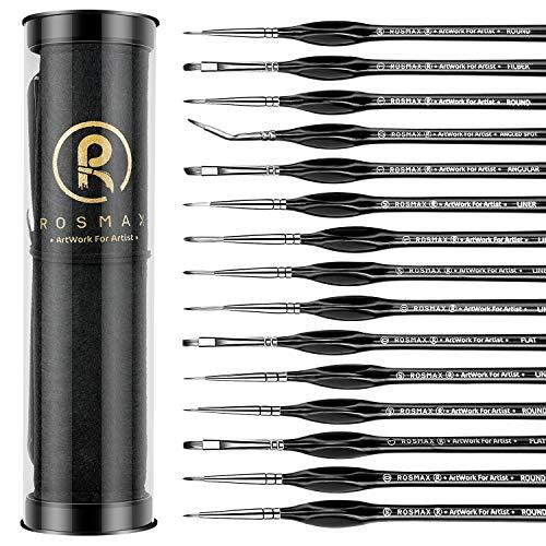 Rosmax- Juego de pinceles p/ pintura acrílica, al oleo y mas