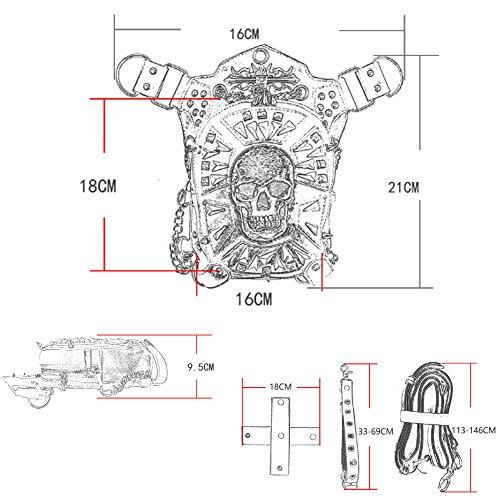 La Multifunción Cintura Cráneo Hombro Negro De Steampunk Del Paquetes Pierna Cestlafit Góticos Bolso Cuero Vendimia OXqwn4C